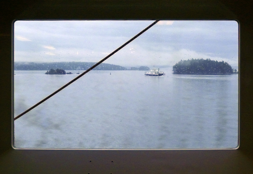 Boat thru Rainy Window